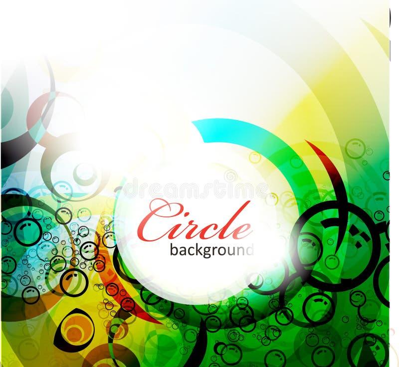 De abstracte kleurrijke achtergrond van de cirkelbanner stock illustratie