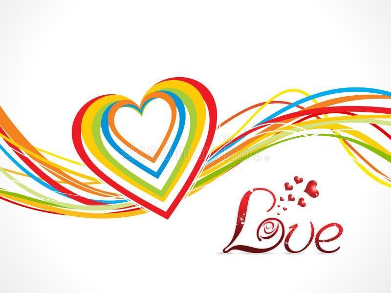 De abstracte kleurrijke achtergrond van de liefdegolf stock illustratie