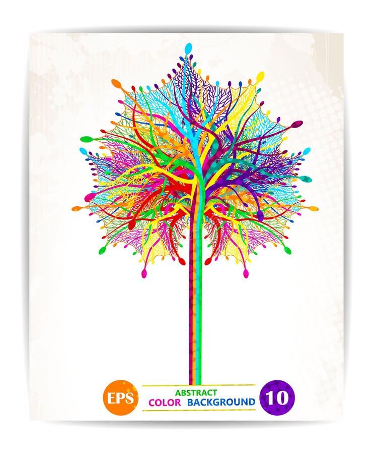 De abstracte kleurrijke achtergrond van het boomontwerp Vector, eps10 royalty-vrije illustratie