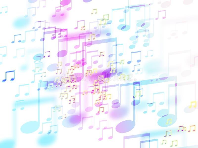 De abstracte kleurrijke achtergrond van het muziekteken stock illustratie