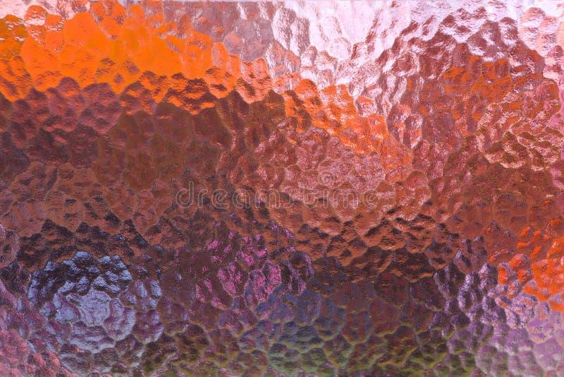 De abstracte Kleurrijke Berijpte Textuur van het Glasvenster royalty-vrije stock fotografie