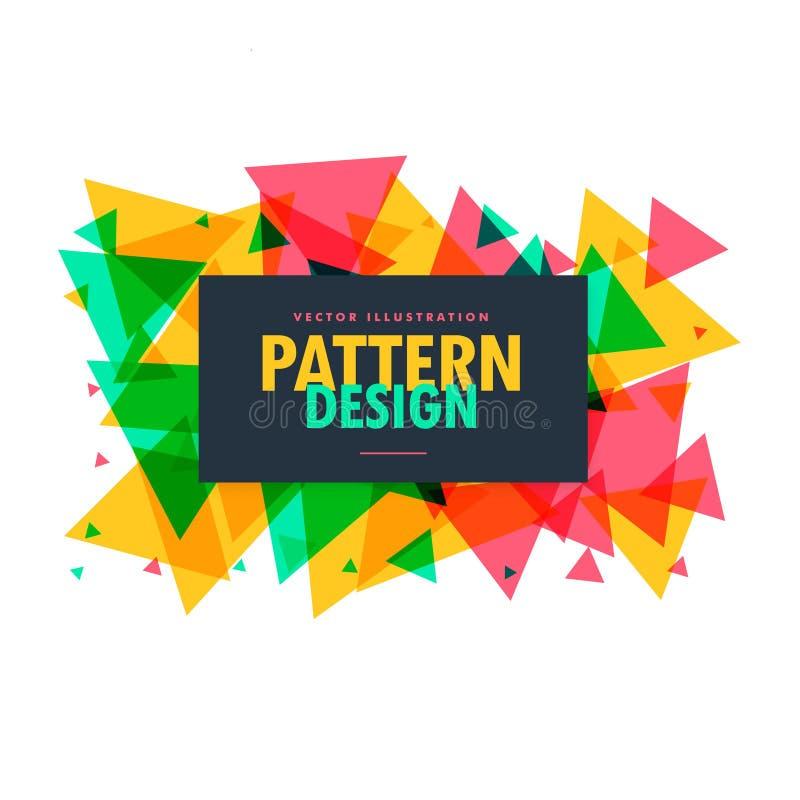 De abstracte kleurrijke driehoek geeft kaderachtergrond gestalte stock illustratie