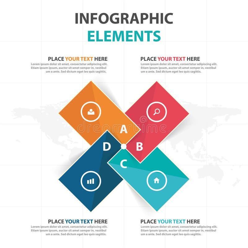 De abstracte kleurrijke elementen driehoeks bedrijfs van Infographics, vlakke het ontwerp vectorillustratie van het presentatiema royalty-vrije illustratie