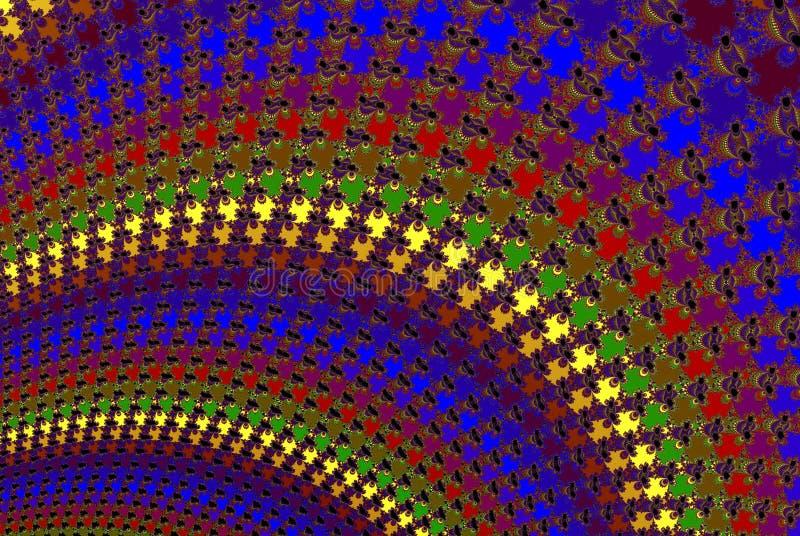De Abstracte Kleurrijke Golven van de disco royalty-vrije illustratie