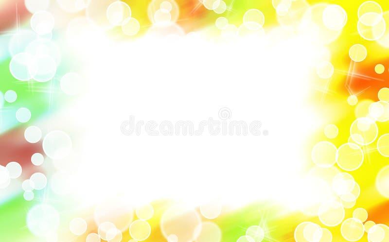 De abstracte kleurrijke grens van de stervorm vector illustratie