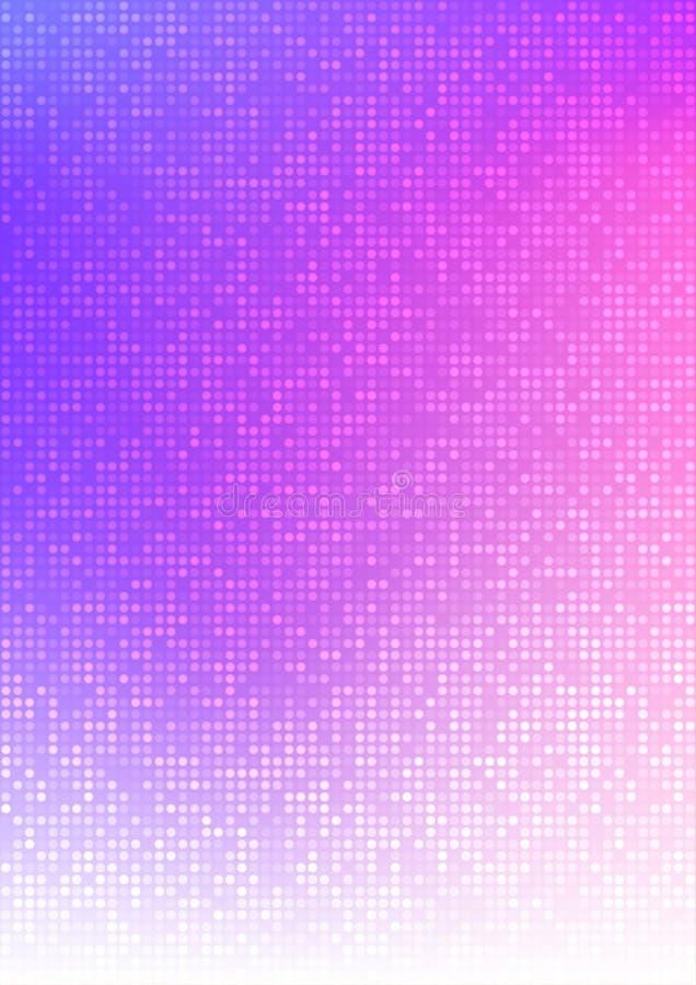De abstracte kleurrijke vectorachtergrond van de het pixel digitale gradiënt van de technologiecirkel, bedrijfspatroonpixel in A4 vector illustratie