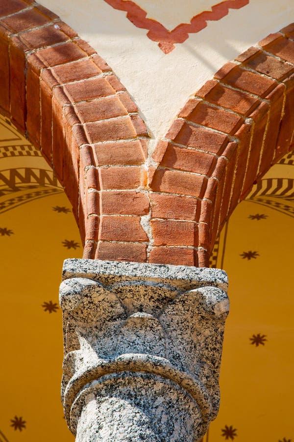 de abstracte kolom van old in van en marmeren baksteen royalty-vrije stock foto