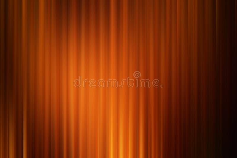 De abstracte kunstachtergrond, oranje goud drapeert de stijl van de bioskoopmotie