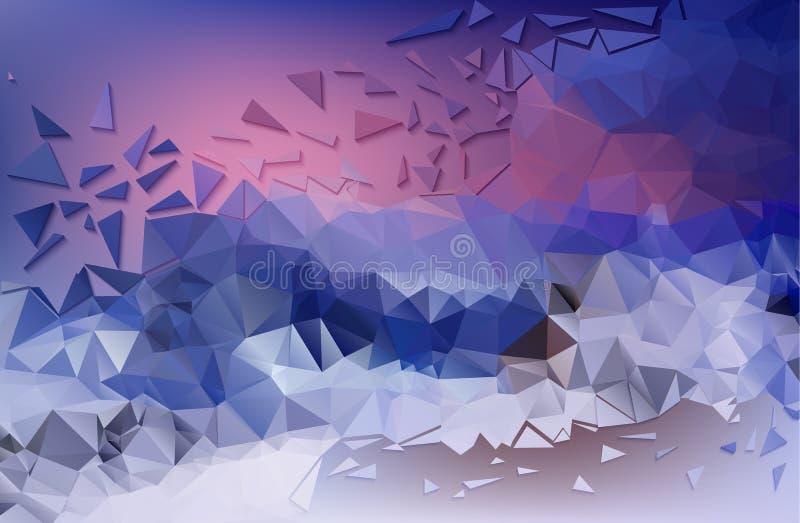 De abstracte lage polyachtergrond is de winter op het onderwerp Vector royalty-vrije illustratie