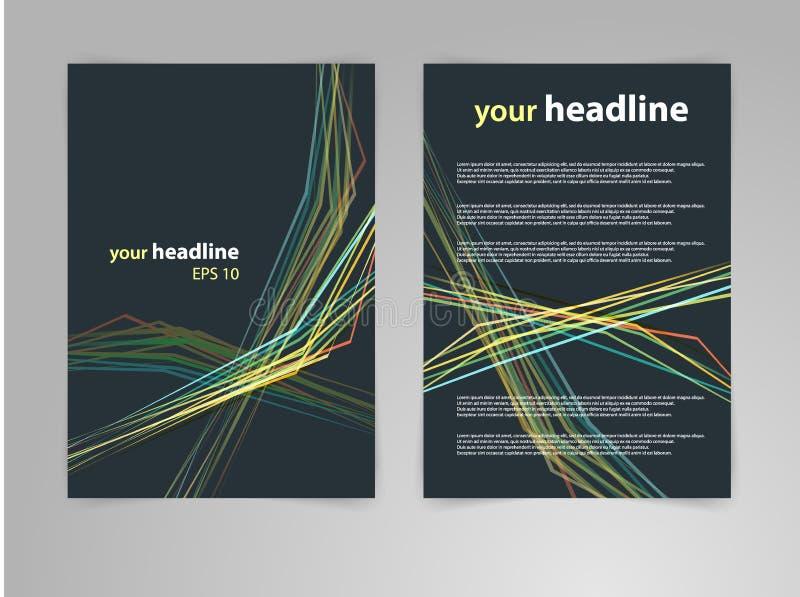 De abstracte lay-out van het geometrisch ontwerp vectormalplaatje voor tijdschrift, brochure, vlieger, boekje, dekking, jaarversl vector illustratie