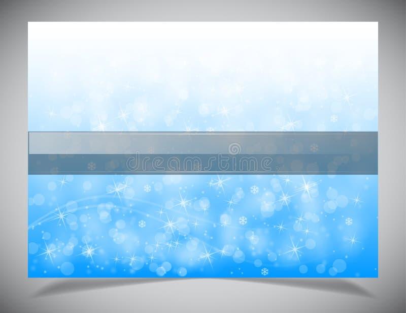 De abstracte lichte winter backgound royalty-vrije stock afbeelding