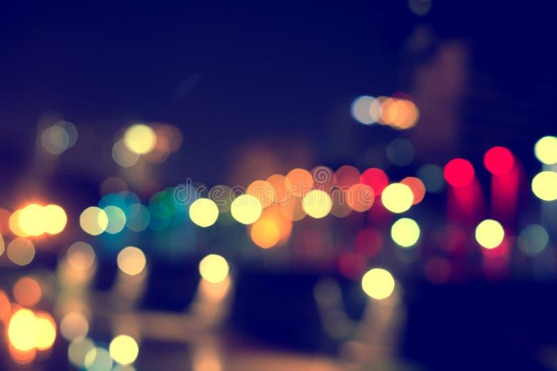 de abstracte lichten van de textuur bokeh stad op de achtergrond stock foto