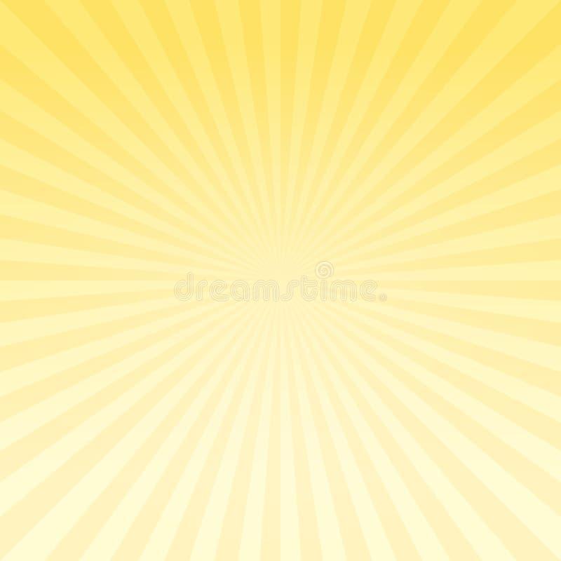 De abstracte lichtgele achtergrond van gradiëntstralen Vectoreps 10 cmyk stock illustratie