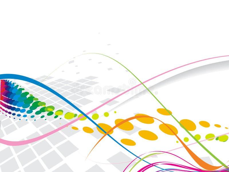 De abstracte lijn van de regenbooggolf royalty-vrije illustratie