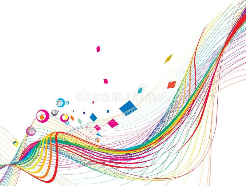 De abstracte lijn van de regenbooggolf vector illustratie