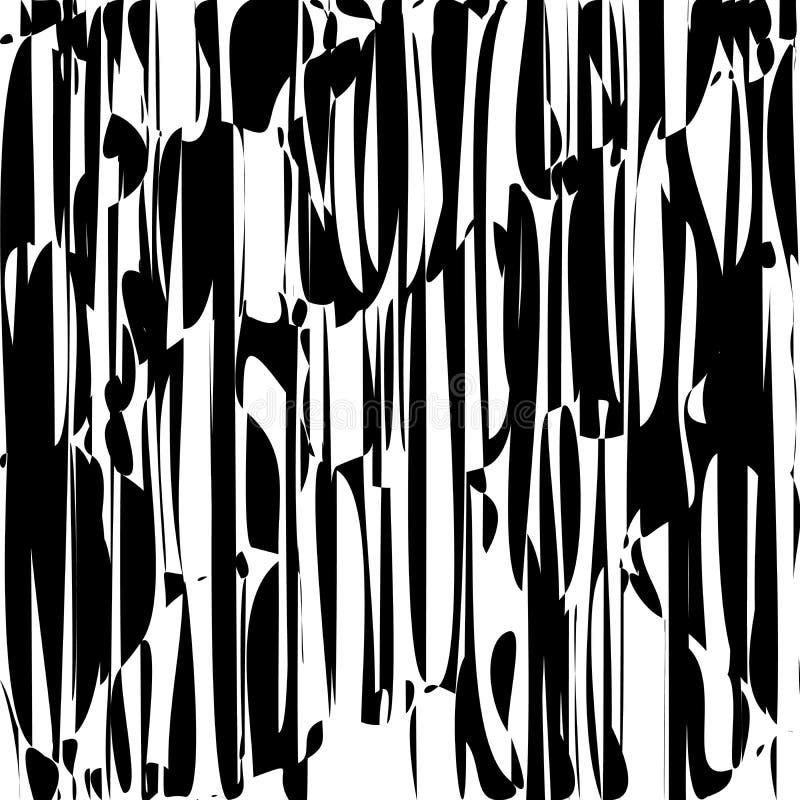 De abstracte Lijnen ontwerpen Zwart-witte Strepenvector royalty-vrije illustratie