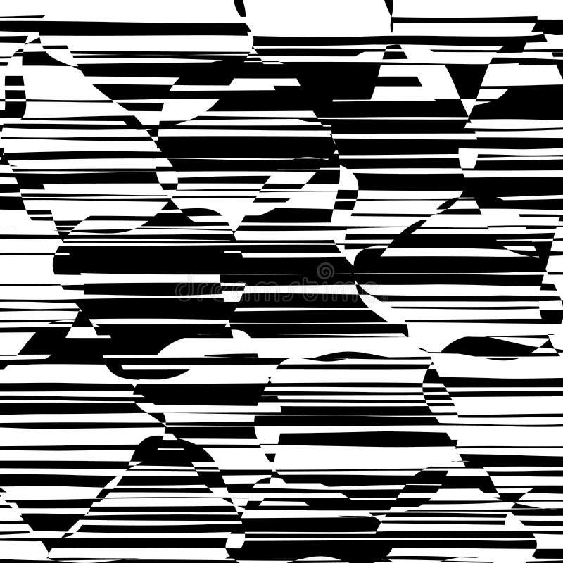 De abstracte Lijnen ontwerpen Zwart-witte Strepenvector stock illustratie