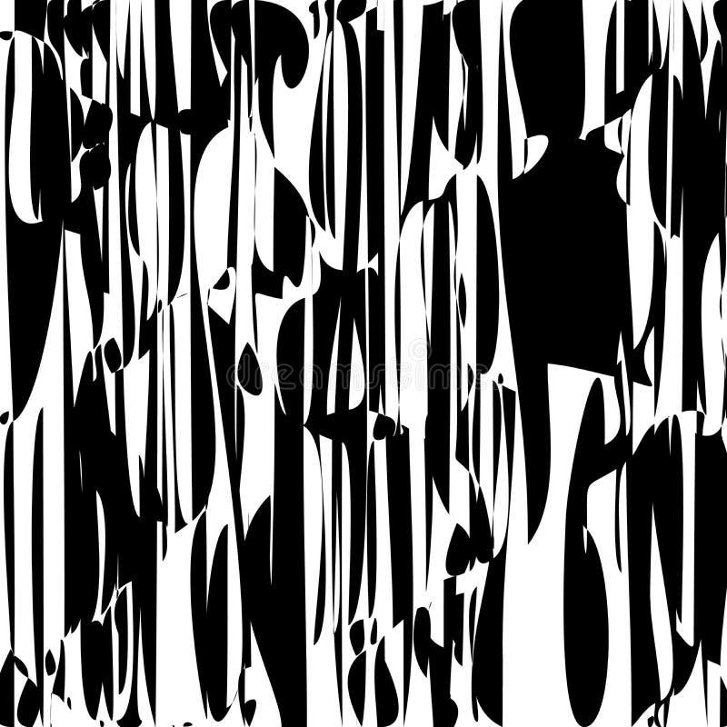 De abstracte Lijnen ontwerpen Zwart-witte Strepenvector vector illustratie