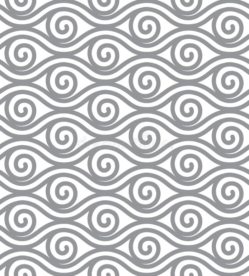 De abstracte lijnvector illustreert Elementen naadloos behang vector illustratie