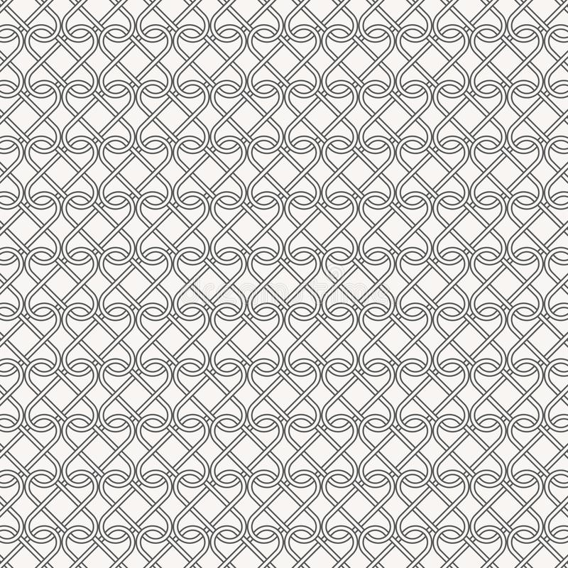 De abstracte lineaire klemmen kruisten elk, is het patroon schoon en bekwaam richt me met de hand vector illustratie