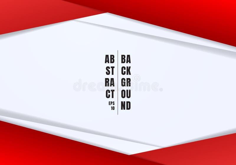 De abstracte malplaatjekopbal en footers de rode en grijze geometrische driehoeken stellen witte achtergrond met exemplaarruimte  royalty-vrije illustratie