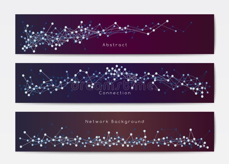 De abstracte malplaatjes van de netwerkbanner stock illustratie