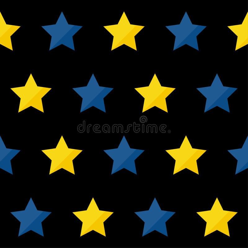 De abstracte met de hand gemaakte achtergrond van het ster naadloze patroon Kinderachtig handcrafted behang voor ontwerpkaart, ba stock illustratie