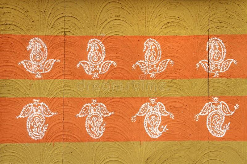 De abstracte Met de hand gemaakte Indische Textuur/het Patroon van het Muurontwerp stock foto