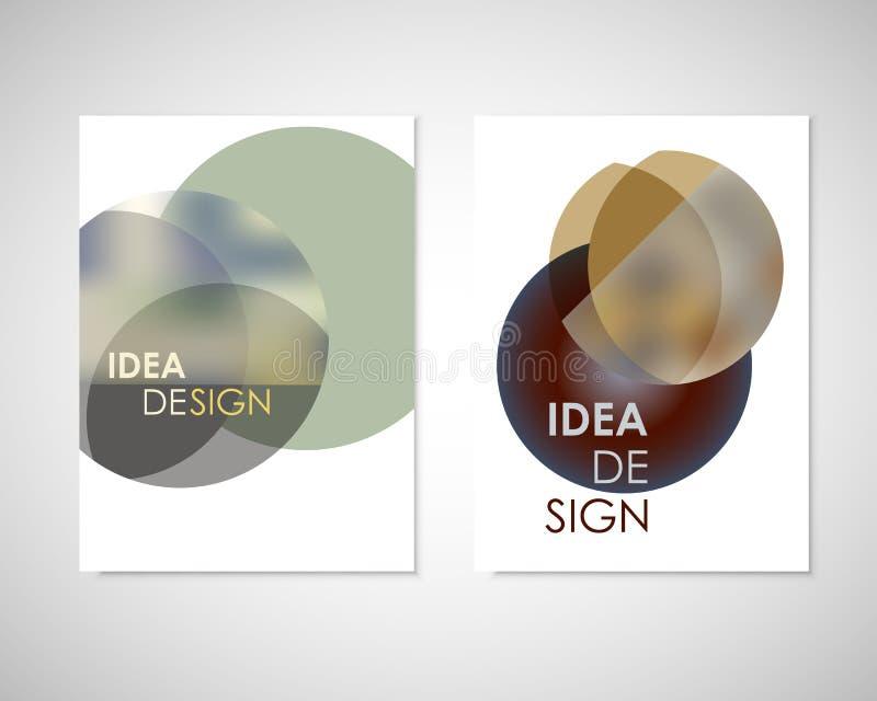 De abstracte minimale geometrische ronde cirkelvormen ontwerpen achtergrond voor u jaarverslag, boek, dekkingsbrochure, vlieger stock illustratie