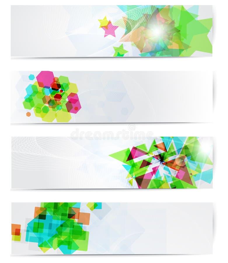 De abstracte moderne reeks van de websitebanner. vector illustratie