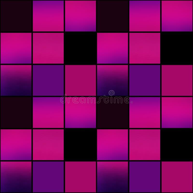 De abstracte moderne textuur heldere purpere B van het vierkanten naadloze patroon vector illustratie
