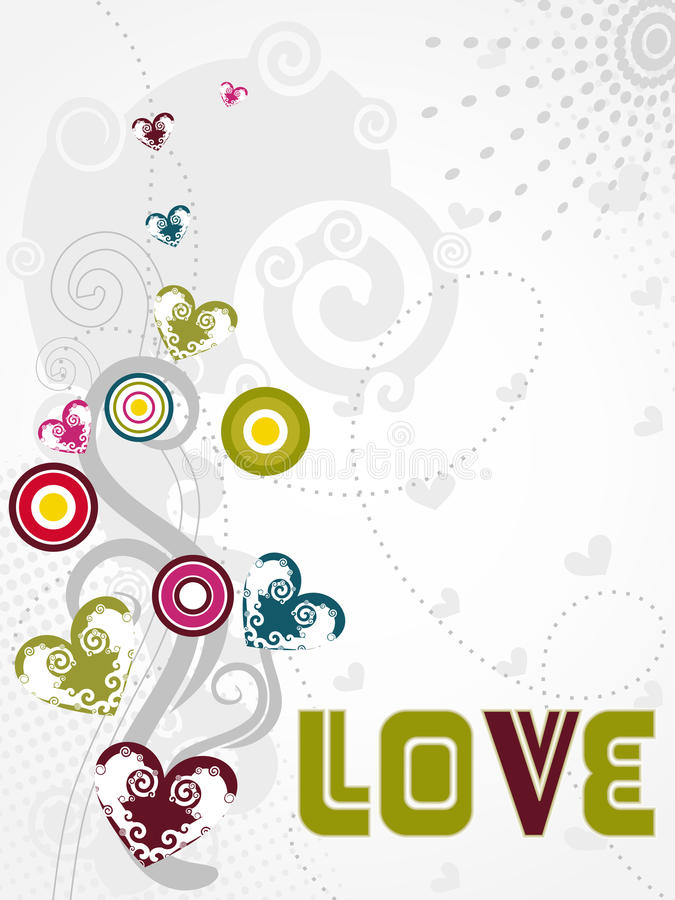 De abstracte modieuze vector van het liefdeontwerp royalty-vrije illustratie