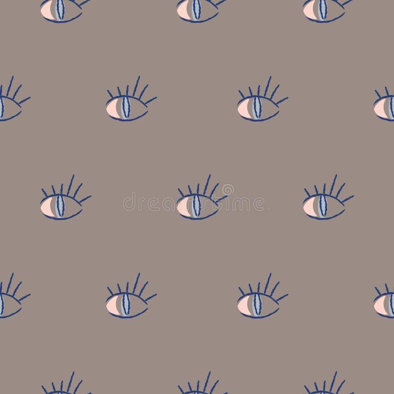 De abstracte naadloze achtergrond van hipsterogen Vectorillustratiepatroon vector illustratie
