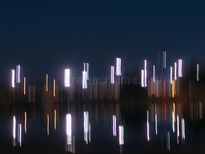 De abstracte nacht steekt achtergrond met exemplaarruimte aan royalty-vrije stock fotografie