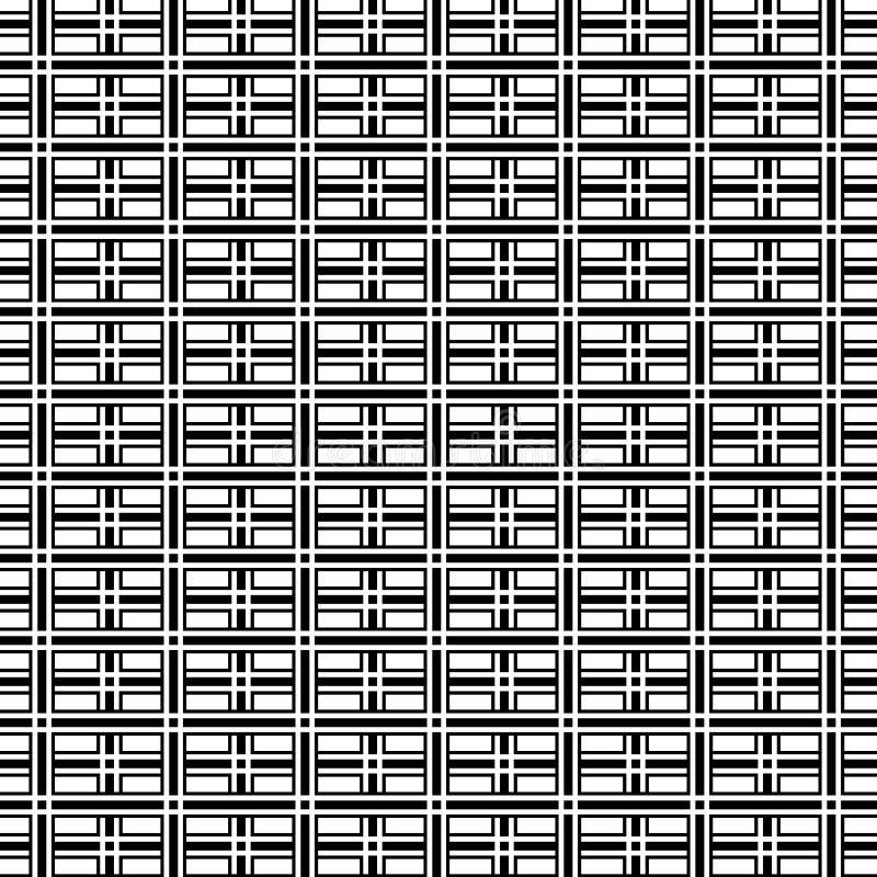 De abstracte op achtergrond van het kunst zwart-witte geometrische patroon vector illustratie