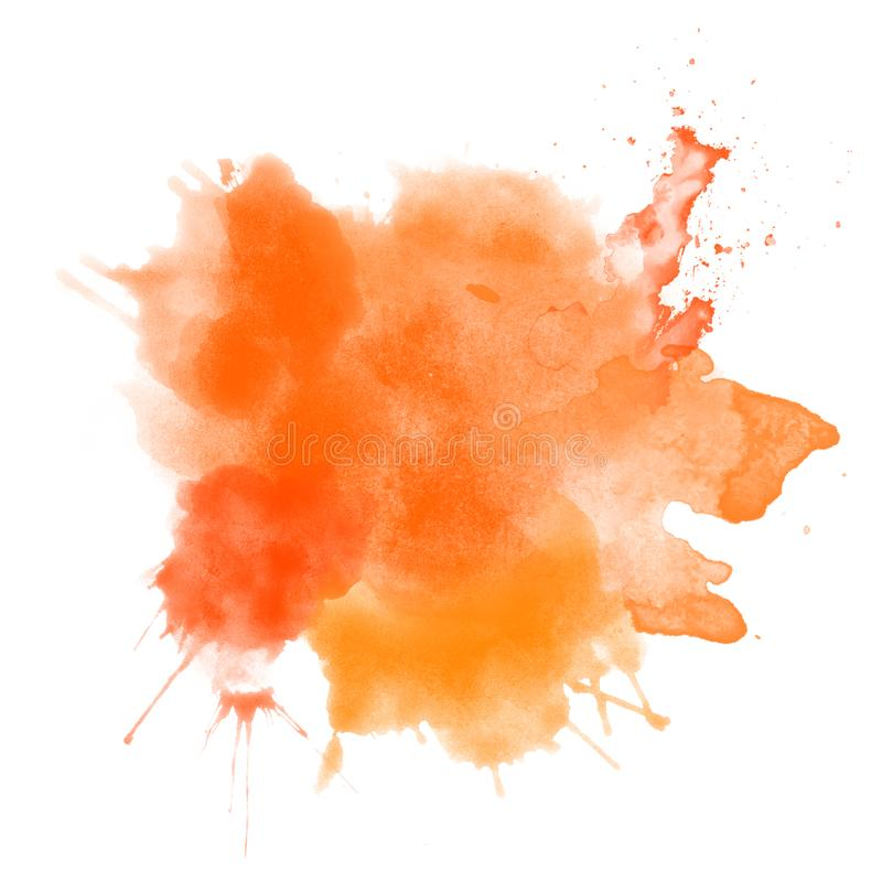 De abstracte oranje hand trekt de achtergrond van de Dankzeggingshalloween van de waterverfvlek vector illustratie