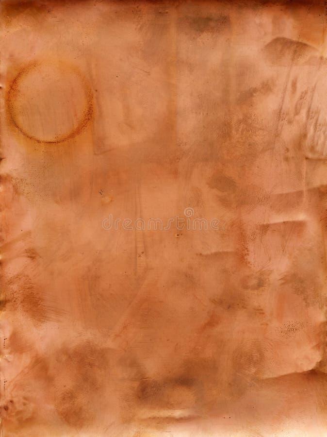 De abstracte oude achtergrond van de kopertextuur stock foto