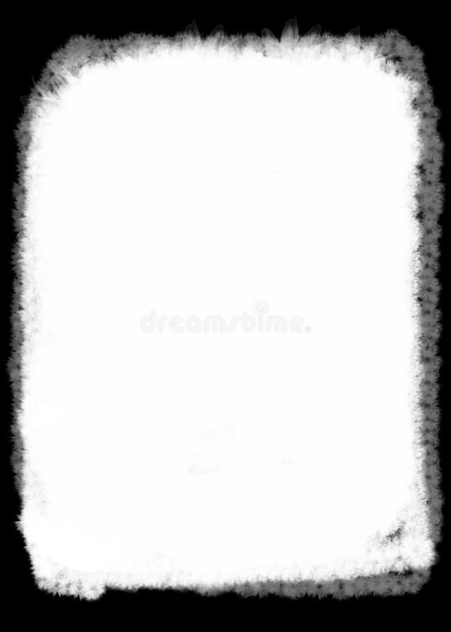De abstracte Rand/de Bekleding van de Bloem Zwarte Decoratieve Foto voor Portretfoto's stock illustratie