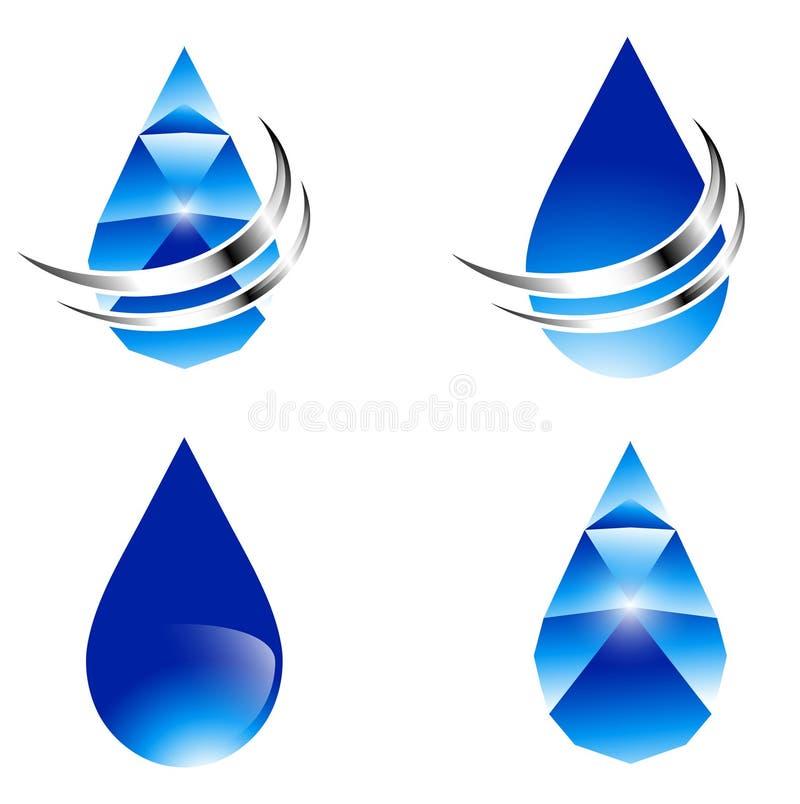 De Abstracte Reeks Van De Waterdaling Vector Illustratie