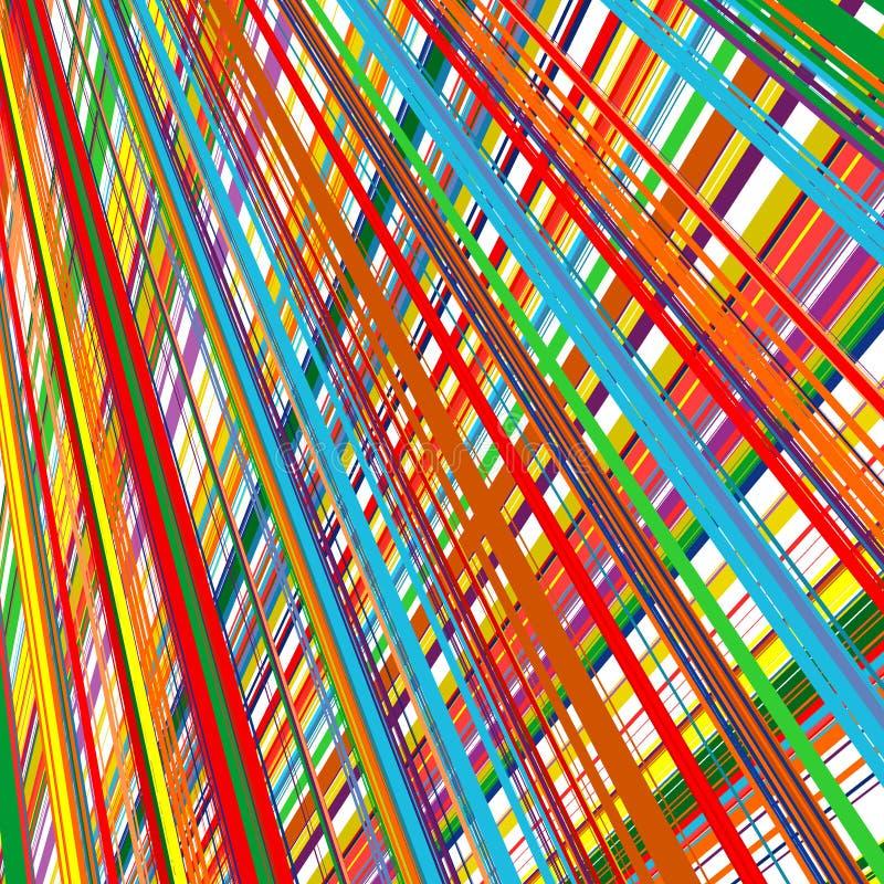 De abstracte regenboog gebogen achtergrond van de strepenkleur royalty-vrije illustratie