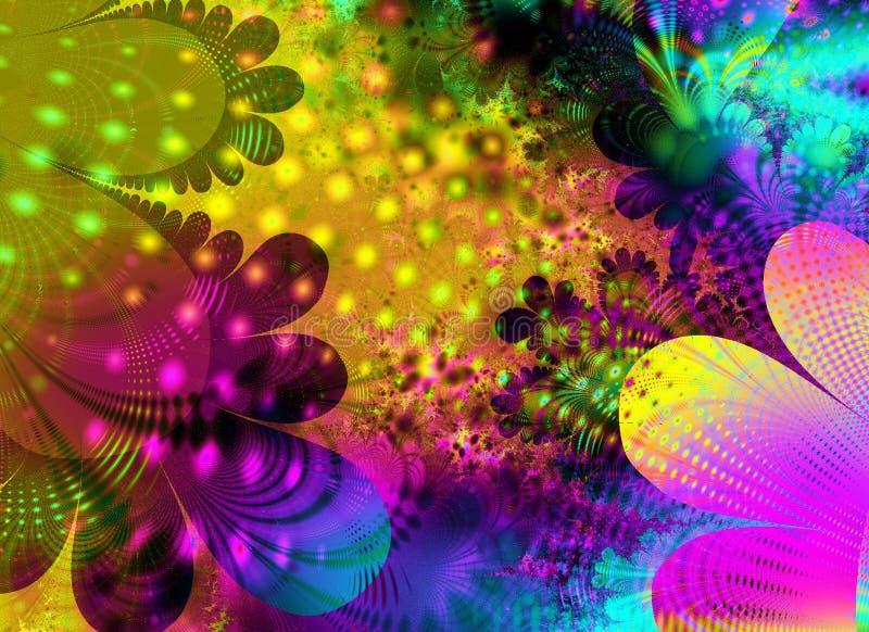 Abstracte Retro Bloem Art Texture Gratis Stock Afbeeldingen