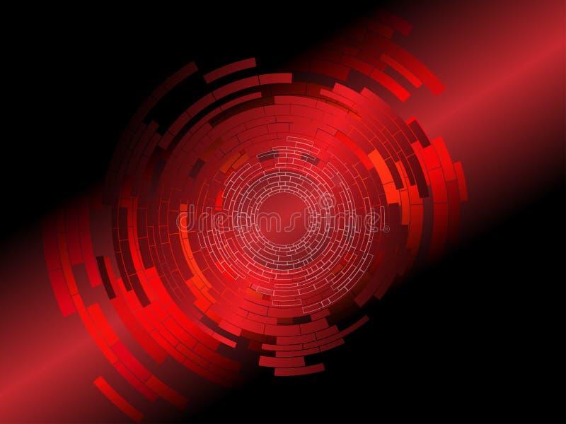De abstracte Rode Achtergrond van Technologie stock illustratie