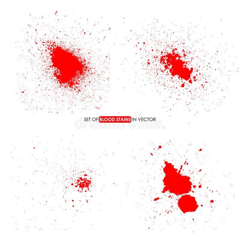 De abstracte rode kleur ploetert op witte achtergrond vector illustratie