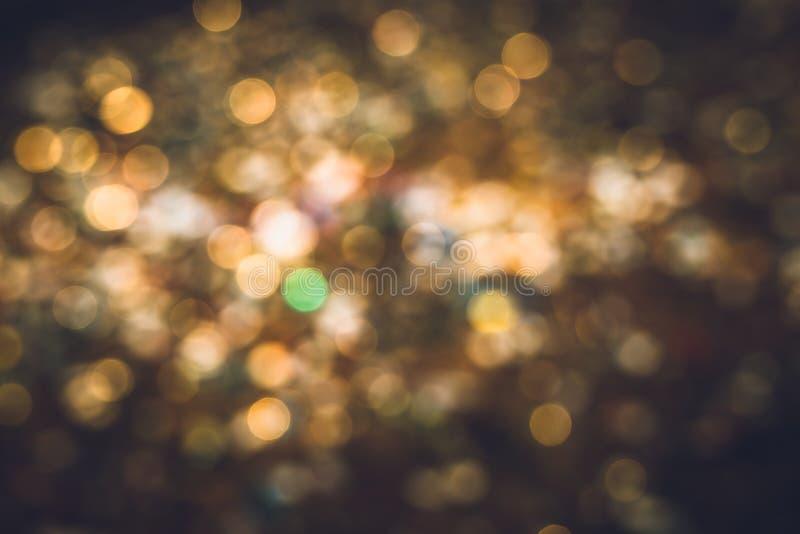De abstracte romantische lichte stemming van de bokehnacht stock fotografie