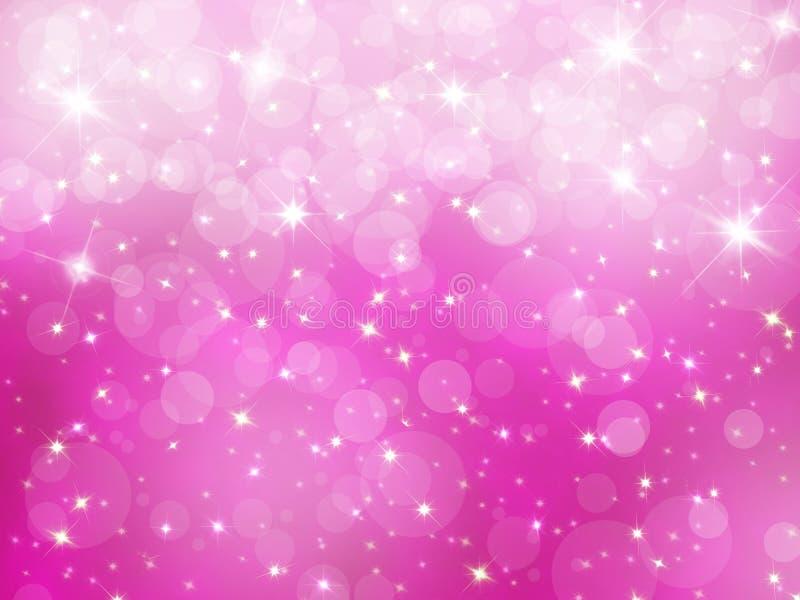 De abstracte roze achtergrond van Kerstmis vector illustratie