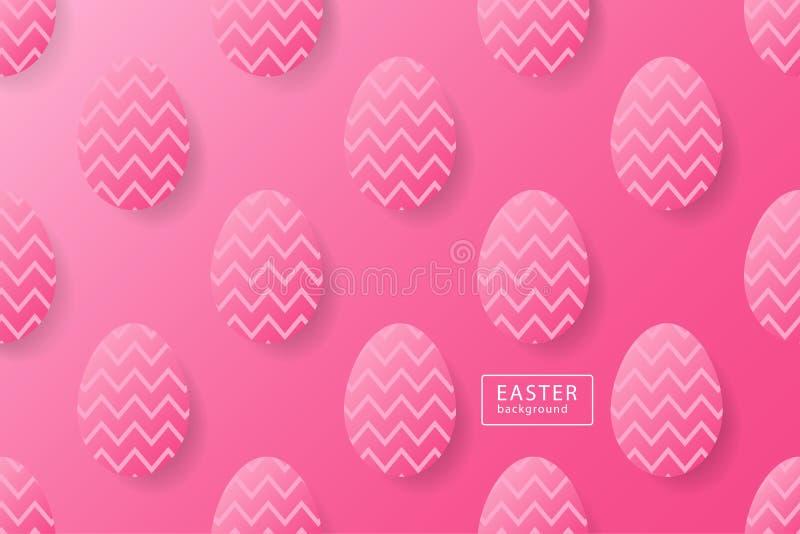 De abstracte roze achtergrond van Pasen met zwart kader voor tekst Creeer royalty-vrije illustratie
