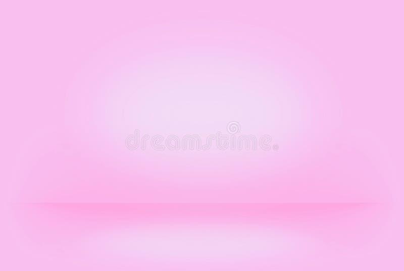 De abstracte roze vage vlotte muur van de achtergrondkleurengradiënt kan gehanteerd creatief concept royalty-vrije stock afbeeldingen