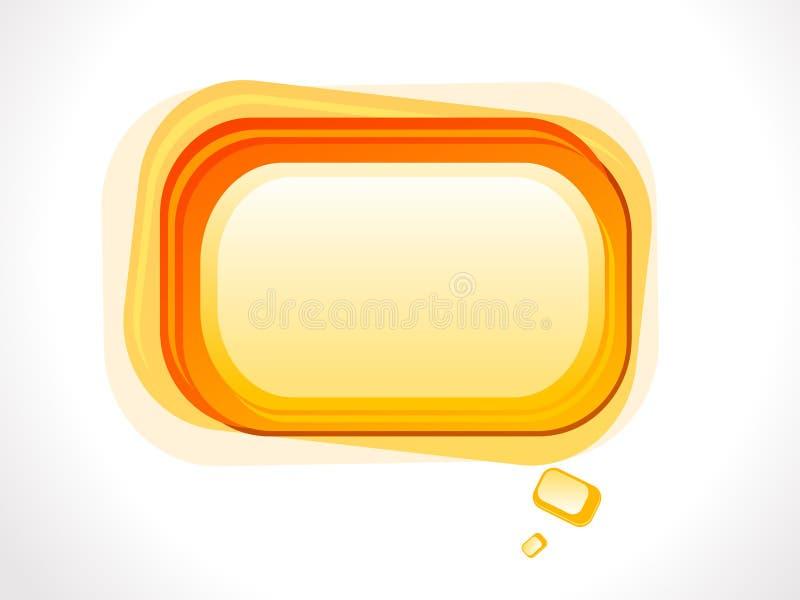 De abstracte sinaasappel baseerde glanzende vorm stock illustratie