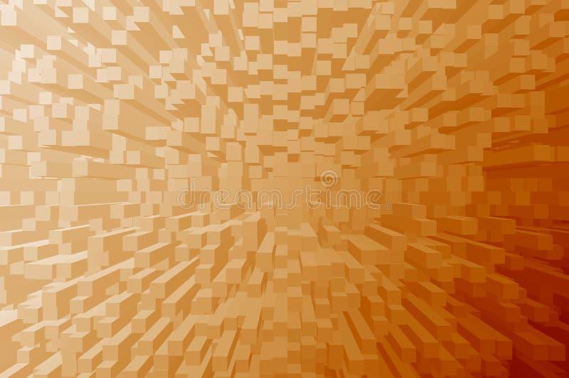 De abstracte sinaasappel drijft effect, gebruik als achtergrond van een element uit vector illustratie