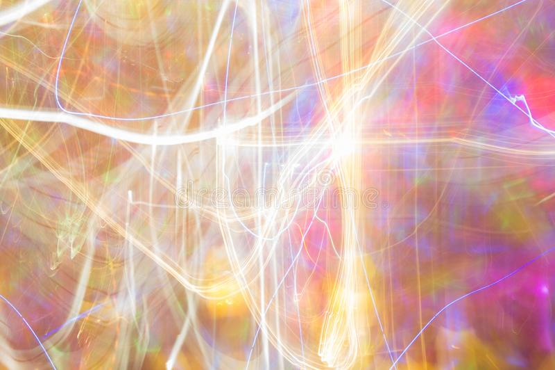 De abstracte snelheid van de nacht lichte kleur, de stijl van de kleurenpartij stock foto